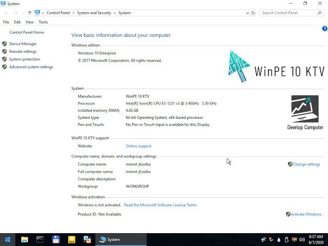 Bạn có thể kiểm tra thông tin về hệ điều hành Windows ở tab System