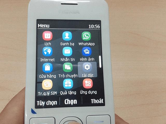Bạn vào mục Cài đặt (Settings) trong điện thoại để reset mật khẩu Nokia