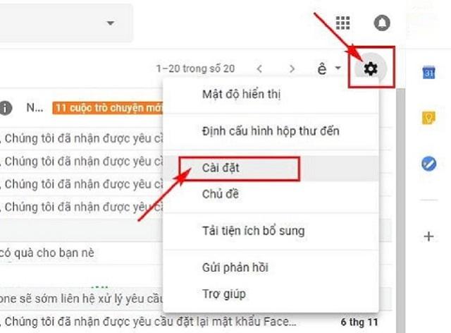 Cách Recall Gmail bằng Undo Send