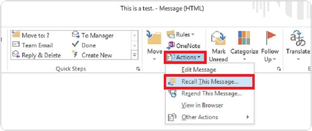 Hướng dẫn thu hồi Email dễ dàng