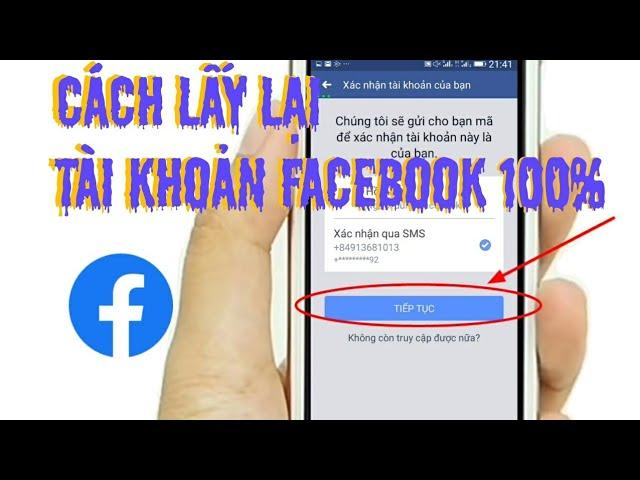 Lấy lại mật khẩu facebook khi mất số điện thoại
