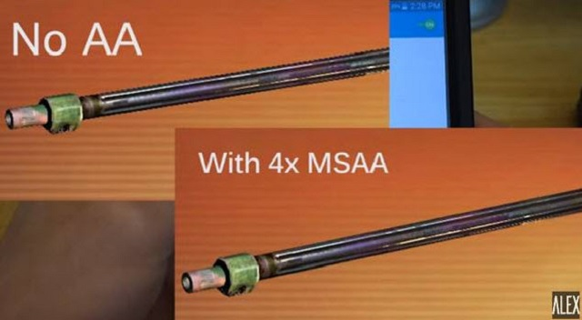 Hình ảnh với ứng dụng 4x MSAA