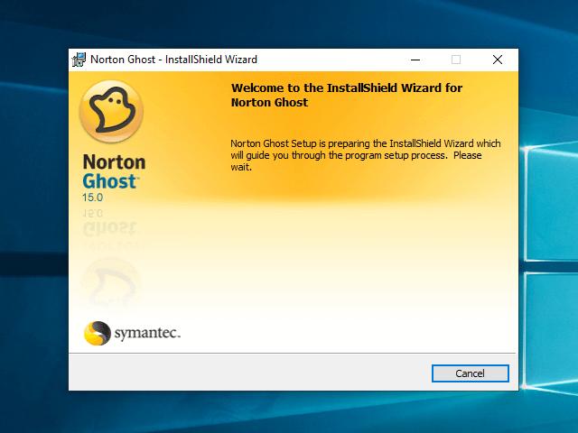 Bảng thông báo chuẩn bị cài đặt Norton Ghost