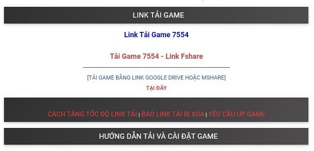 Link tải game 7554 an toàn